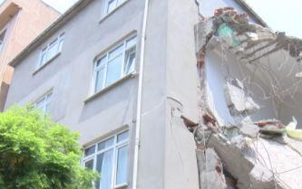 Bina tahliye edilerek mühürlendi